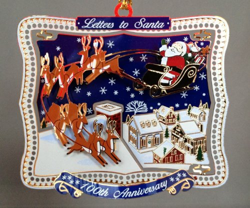Letters Santa 100th Anniversary Ornament product image