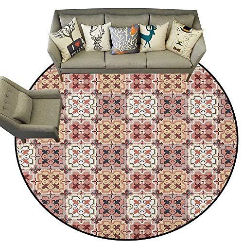 - Quatrefoil,Carpet mat Vintage Style Patterns Tangled Clover Shapes Eastern Tessellation Illustration D78 Long Kitchen Mat Bath Carpet