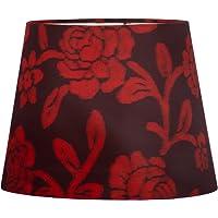 Cúpula de Abajur Floral Vermelha 20x16cm