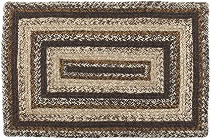 IHF Home Decor Rectangle Braided Area Rug 20″x30″ to 8' x 10' Jute Fiber Chestnut Lane Design 4'x6'