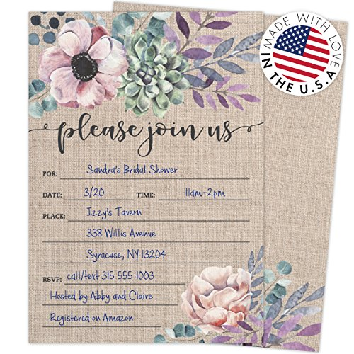 Review Rustic Burlap Invitations with