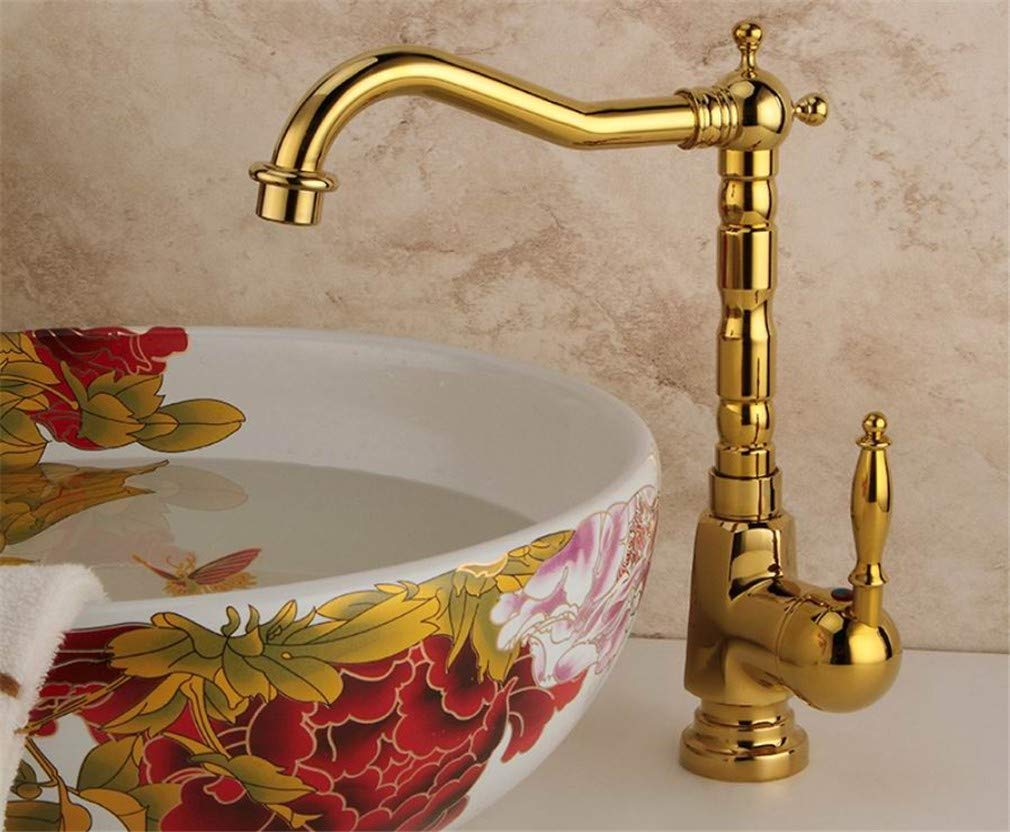 Tap Mixer Kitchen Sink Taps Contemporary Bathroom Basin Gold Faucet Brass Sink Tap New Luxury Single Handle Hot and Cold Tap