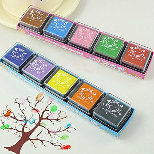 Pink Lizard DIY Craft Foam Ink Stamp Pad For Rubber Stamps Paper Wood Kids