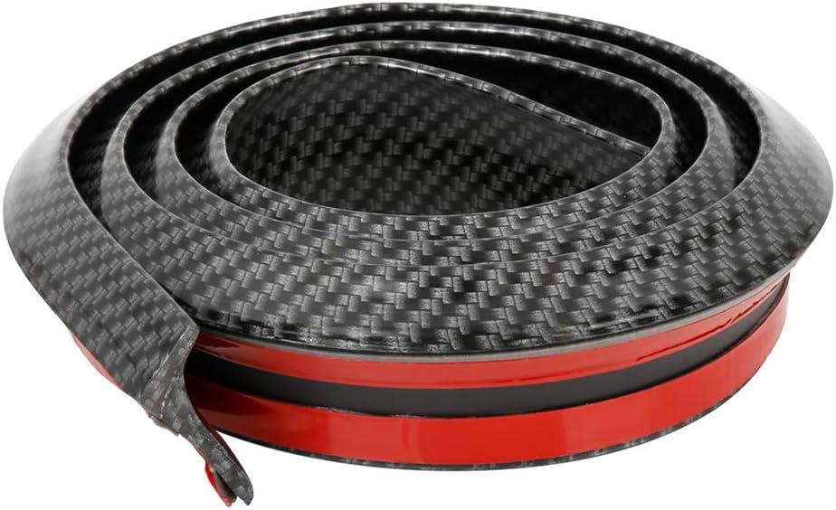 X AUTOHAUX 59 Matte Black Car Rear Spoiler Wing Rubber Molding Lip Tail Trunk Roof Trim Sticker Universal