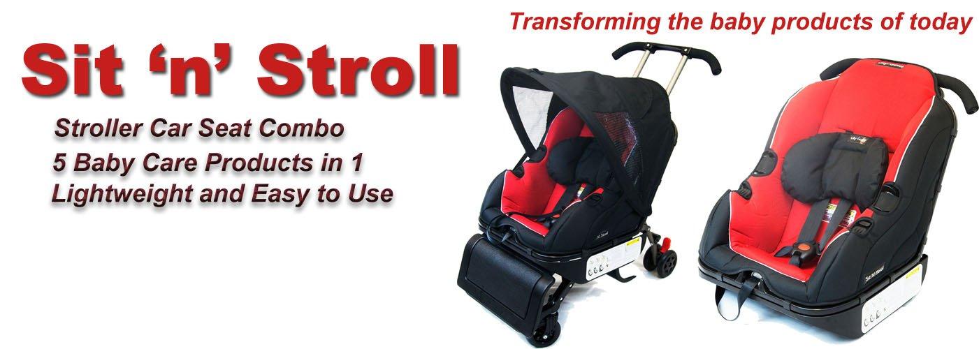 Sit 'N' Stroll 5 in 1 Baby Car Seat & Stroller by Sit N Stroll (Image #4)
