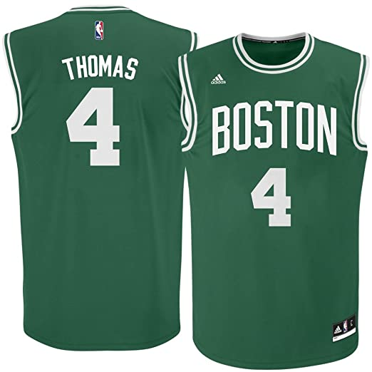 new concept 1c93c 07740 adidas Isaiah Thomas Boston Celtics Green NBA Youth Revolution 30 Replica  Jersey (Medium 10/12)