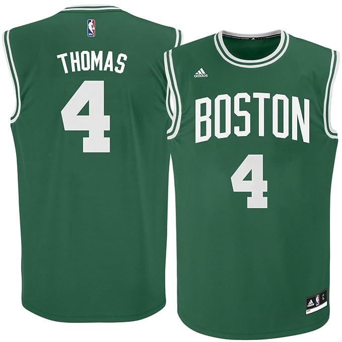 new concept 69b5c 4c811 adidas Isaiah Thomas Boston Celtics Green NBA Youth Revolution 30 Replica  Jersey (Medium 10/12)