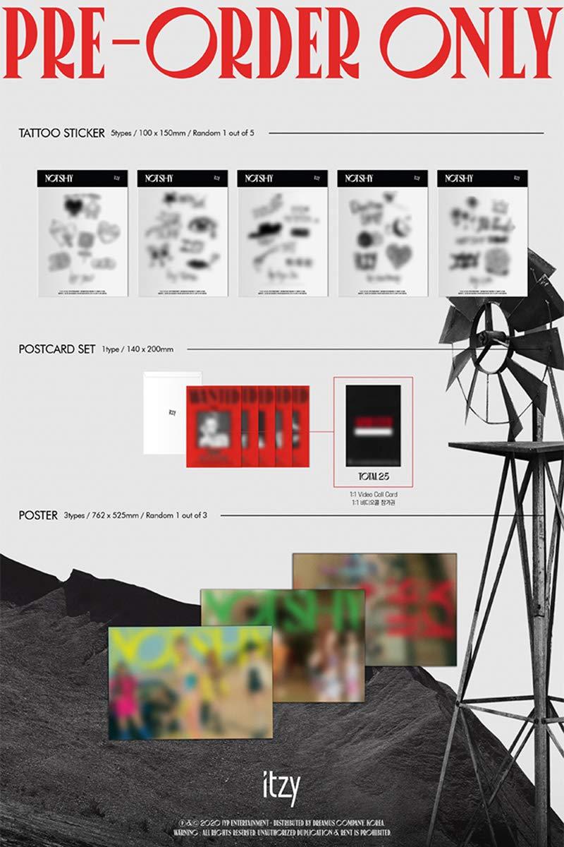 ITZY NOT SHY Album A+B+C 3 VER SET. 3ea CD+3ea Photo Book(each 72p) +6ea  Photo Card+3ea Lyric Accordion Book+3ea Pre-Order Item K-POP SLEALED  TRACKING CODE - ITZY: Amazon.de: Musik