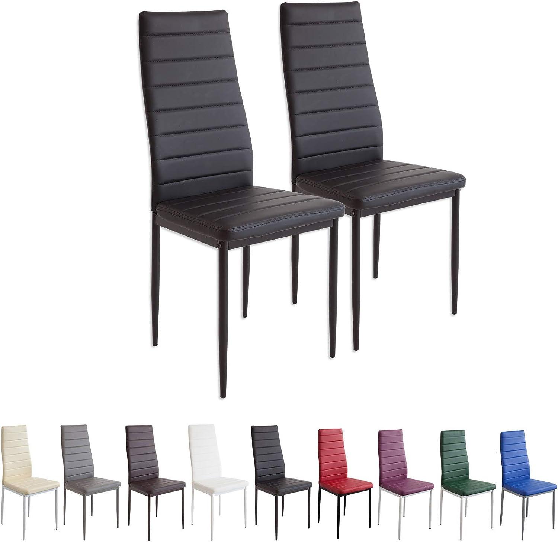 Albatros 2862 Milano Set de 2 sillas de Comedor, Negro