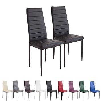 Albatros Milano - Set de 2 sillas de Comedor, Estructura metálica y ...