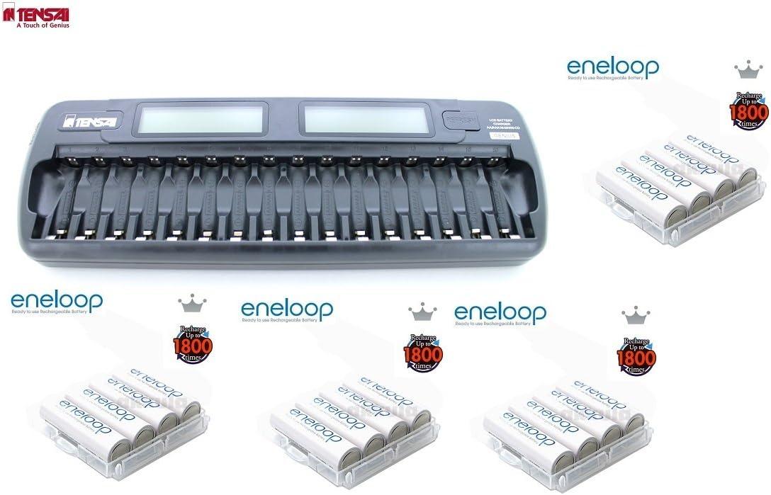 Tensai TI-1600L 16 Eneloop - Pack de pilas y cargador (NiMh): Amazon.es: Electrónica
