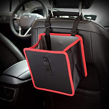New Car Seat Back Multifunctional Foldable Storage Hanging Bag Garbage Organizer