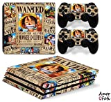 AmorFati PS4 PRO Playstation 4 PRO Console Skin Decal Sticker - OnePiece + 2 Controller Skins Set