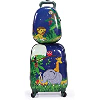 """2Pcs Kids Luggage, 12"""" 16"""" Kids Carry On Luggage Set, Trolley Hard Shell Suitcase School Bag for Boys and Girls Travel…"""
