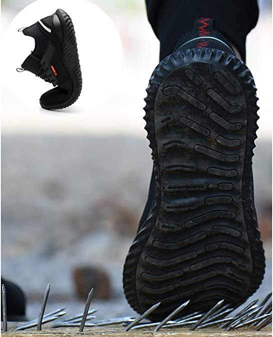 SUADEEX Femme Homme Chaussures de S/écurit/é Embout Acier Protection Confortable L/éger Respirante Chaussures de Travail