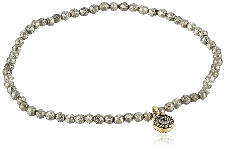 Satya Jewelry Gold-Plated Pyrite Celestial Meteorite Stretch Bracelet BG53A-91