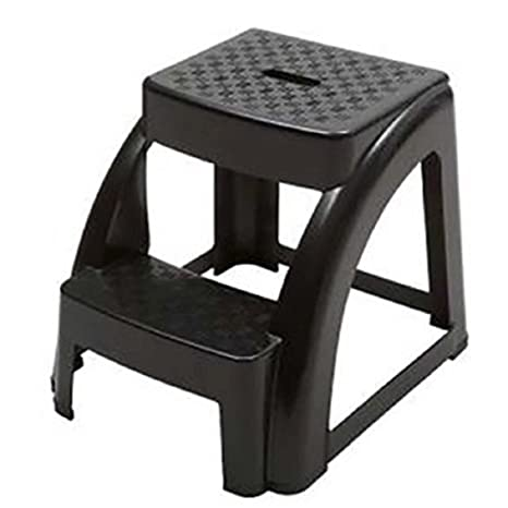 Incredible Ntm 2 Step Anti Slip Black Step Stool 250 Lb Load Capacity 18 L X 16 W X 15 H Ocoug Best Dining Table And Chair Ideas Images Ocougorg