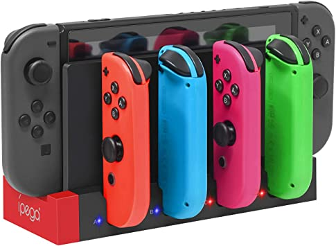 FYOUNG Cargador para Nintendo Switch Joy Cons, estación base de carga para Nintendo Switch Joy-Con con indicador, estación de carga para 4 Joy Cons: Amazon.es: Electrónica