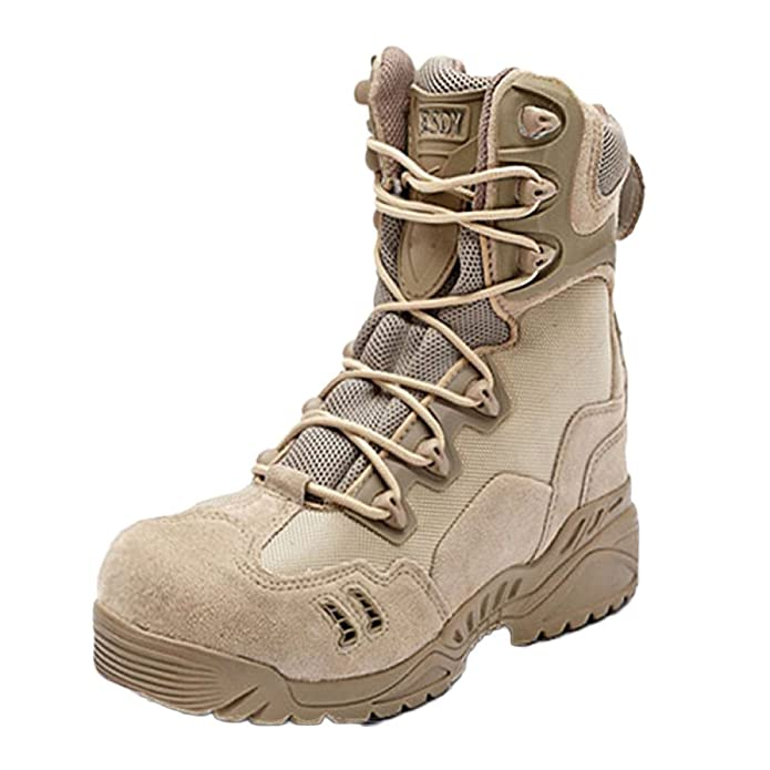 nihiug Scarpe da Trekking per Uomo Impermeabili Scarpe da Trekking Alte E Leggere Antiscivolo Resistente all'Usura Antiscivolo