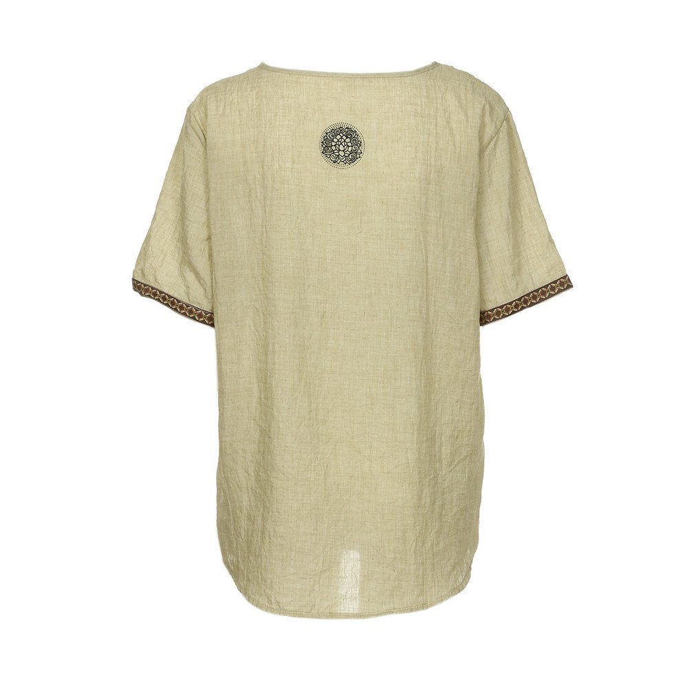 Men's Tech Short Sleeve T-Shirt Beige by Donci T Shirt (Image #4)