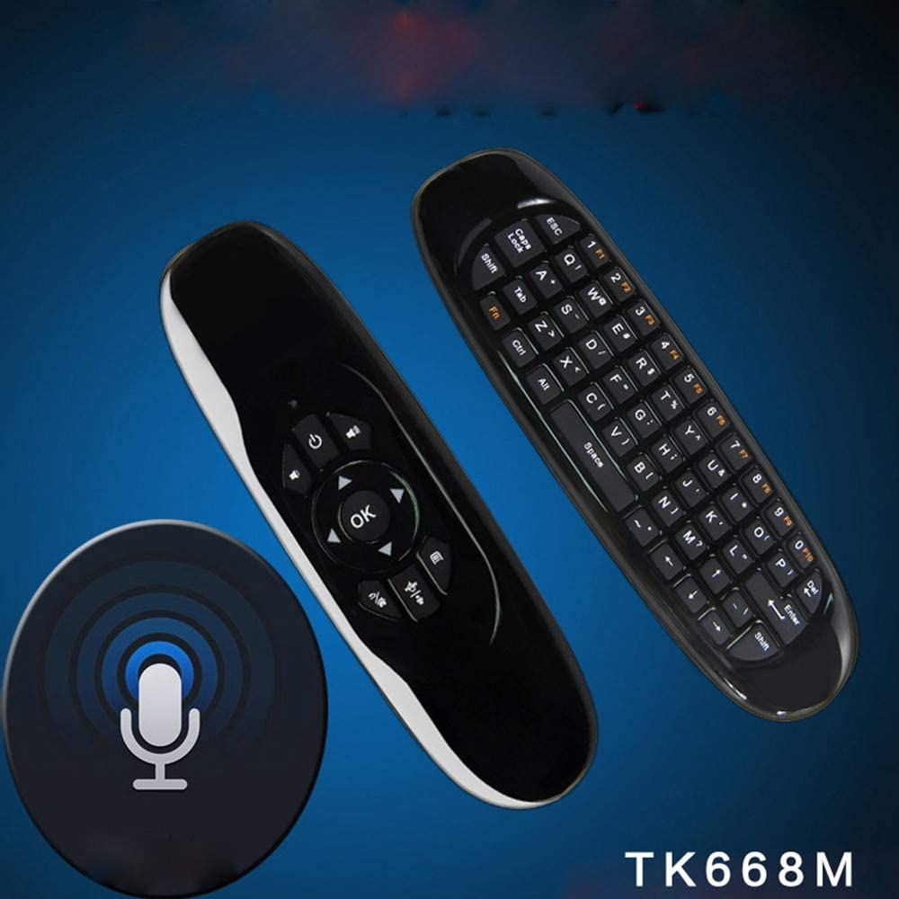 Calvas RF 2.4G Wireless Air Mouse Wireless Keyboard Remote For Smart TV Box Mini PC Air Mouse Motion Sense USB Receiver For Android TV