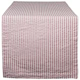 DII Cotton Seersucker Striped Table Runner for Dinning Room, Entryway Weddings, Parties and Everyday Use, 14x108'', Rose Pink and White