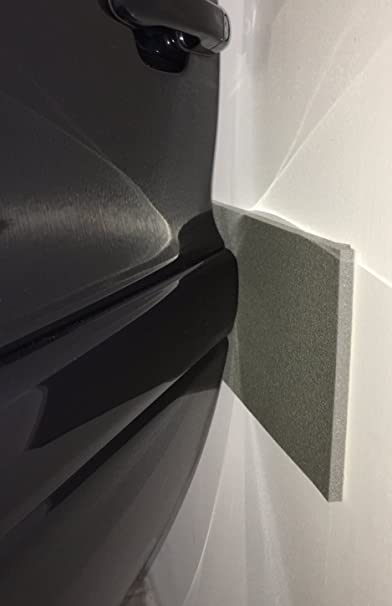 Paracolpi Pareti Garage e box Auto 2 strisce pannelli adesive Muro Antracite