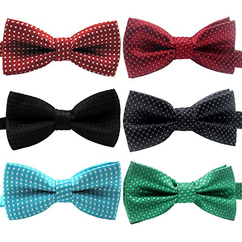YOY Handcrafted Adorable Pet Bow Ties - 6-Pack Adjustable Neck Tie 10