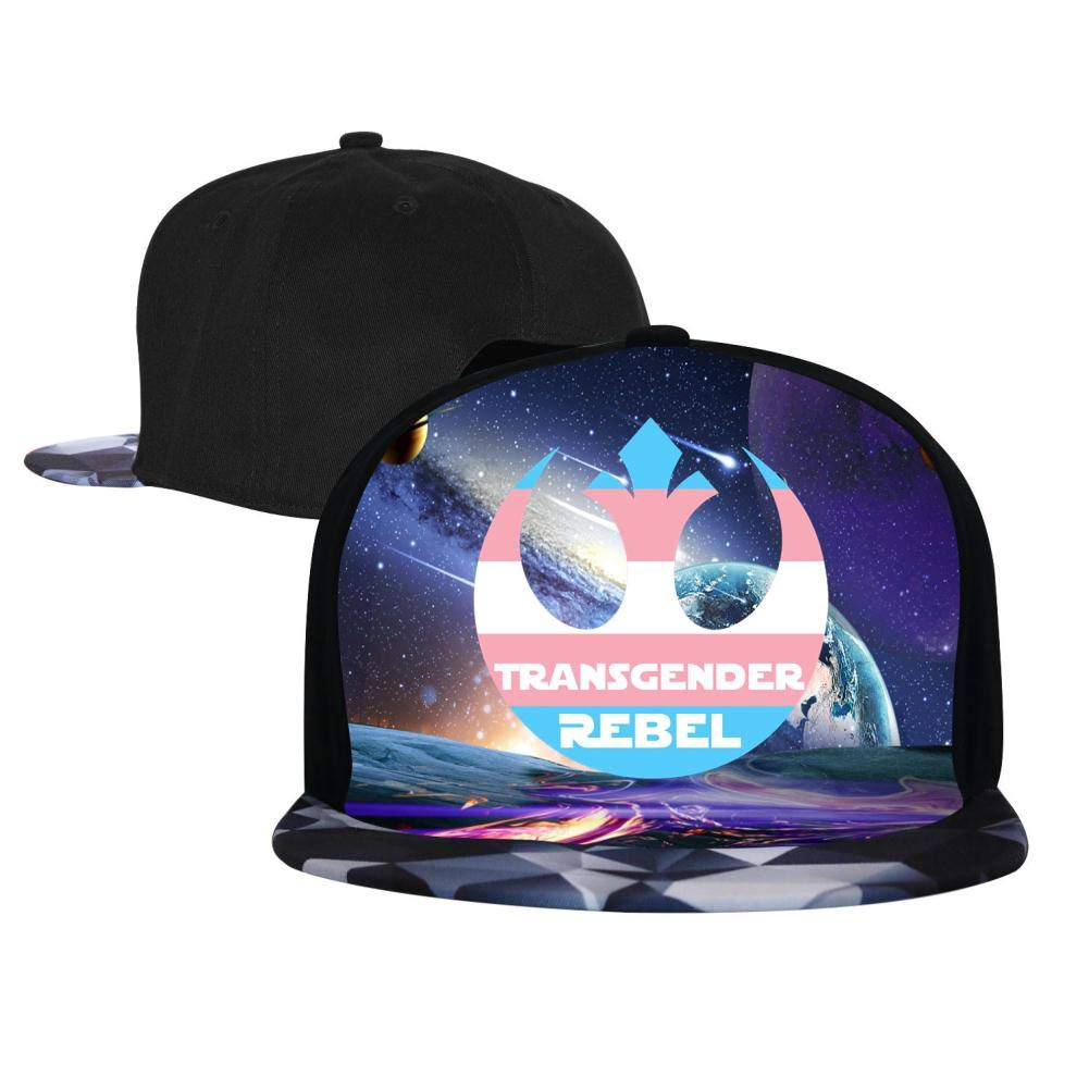 Transgender Rebel Pride Mens and Womens Trucker Hats Adjustable Hip Hop Flat-Mouthed Baseball Caps