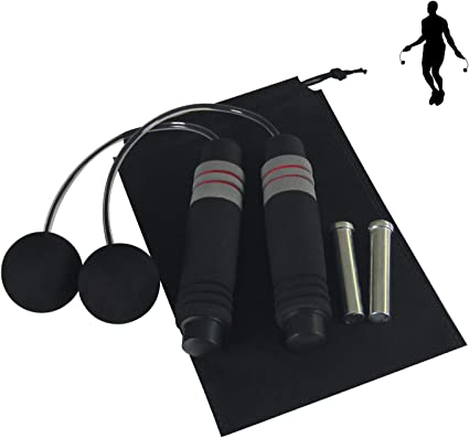 SPEED SKIPPING ROPE BOXING FITNESS JUMPING CROSSFIT WEIGHTED GYM EXERCISE ADULT