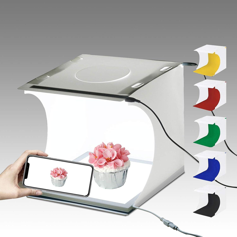 PULUZ Soft Box Set Portable Pliant Photo /éclairage modificateur Photographie Tente bo/îte avec 12 Couleurs d/écors
