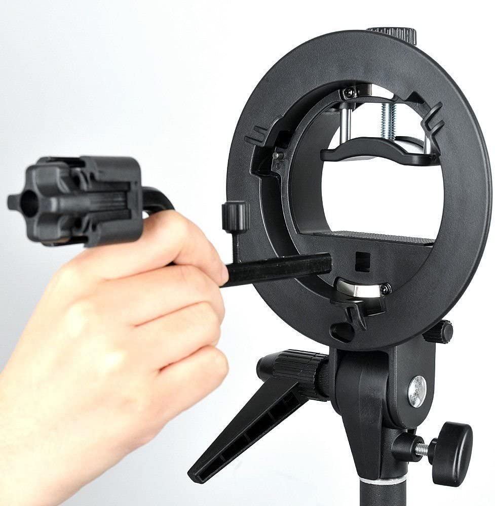 Yunchenghe S-FA Four Speedlite Adapter Hot Shoe Mount Holder for S-Type Speedlite Bracket for Hot Shoe Speedlite Flash