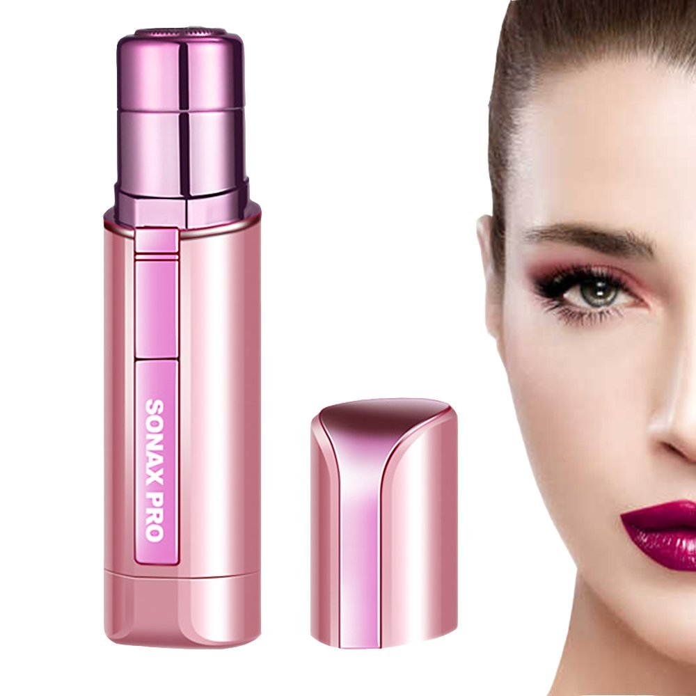 Women's Painless Hair Remover Lipstick Design,Portable Wet and Dry Use Facial Electric Mini Hair Remover Shaver Device for Woman&Ladies Face Chin Lip Body