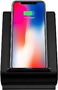 Fast 10W Qi Wireless Charging Sound Hub w/Bluetooth Speaker Dock for iPhone 8, 8 Plus, X, XS, XS MAX, XR, XS, 11, 11PRO, 11PRO MAX & Samsung S20, S20+, S10, S10+