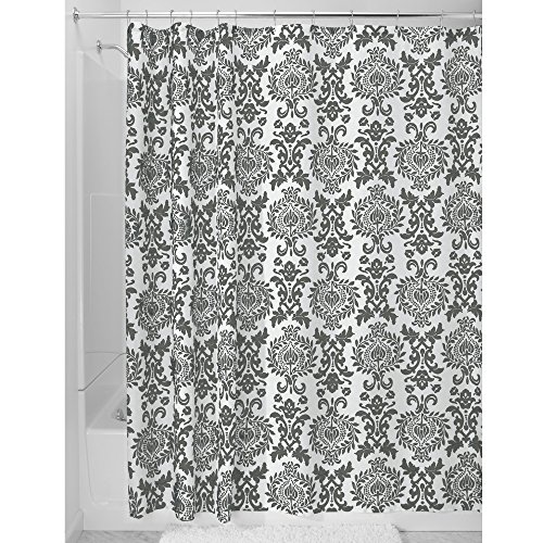 Linen Damask Fabric (InterDesign Damask Fabric Shower Curtain, 72 x 72,)