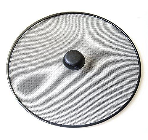Grease Splatter Screen 9 75 Inch Diameter Black Metal Rim
