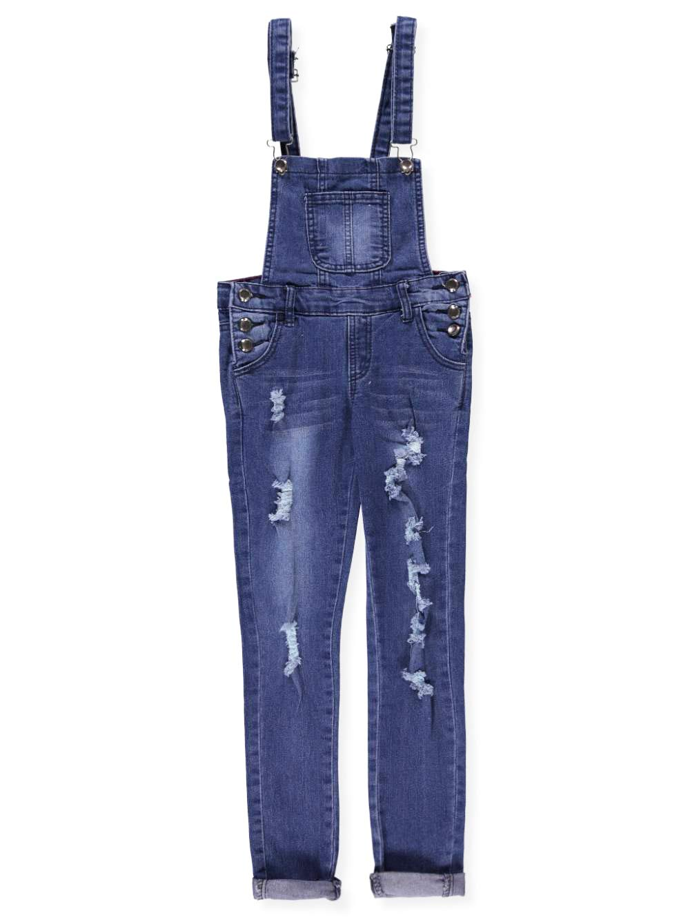 Teen G's Big Girls' Skinny Overalls - Medium Blue, 14