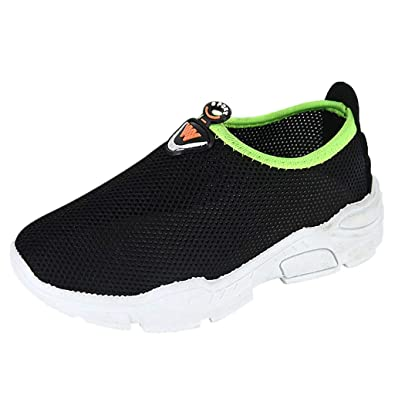 Children Kids Sports Shoes Boys Girls Running Trainers Athletic Lace Mesh Breath