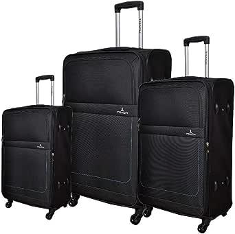 حقيبة سفر ترولي من تراك B275-3p - أسود أسود