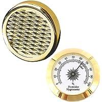 Cigar Hygrometer - Cigar Humidifier - Precision Round Adjustable Point Hygrometer for Cigar Humidor Cigar Box/Cigar…