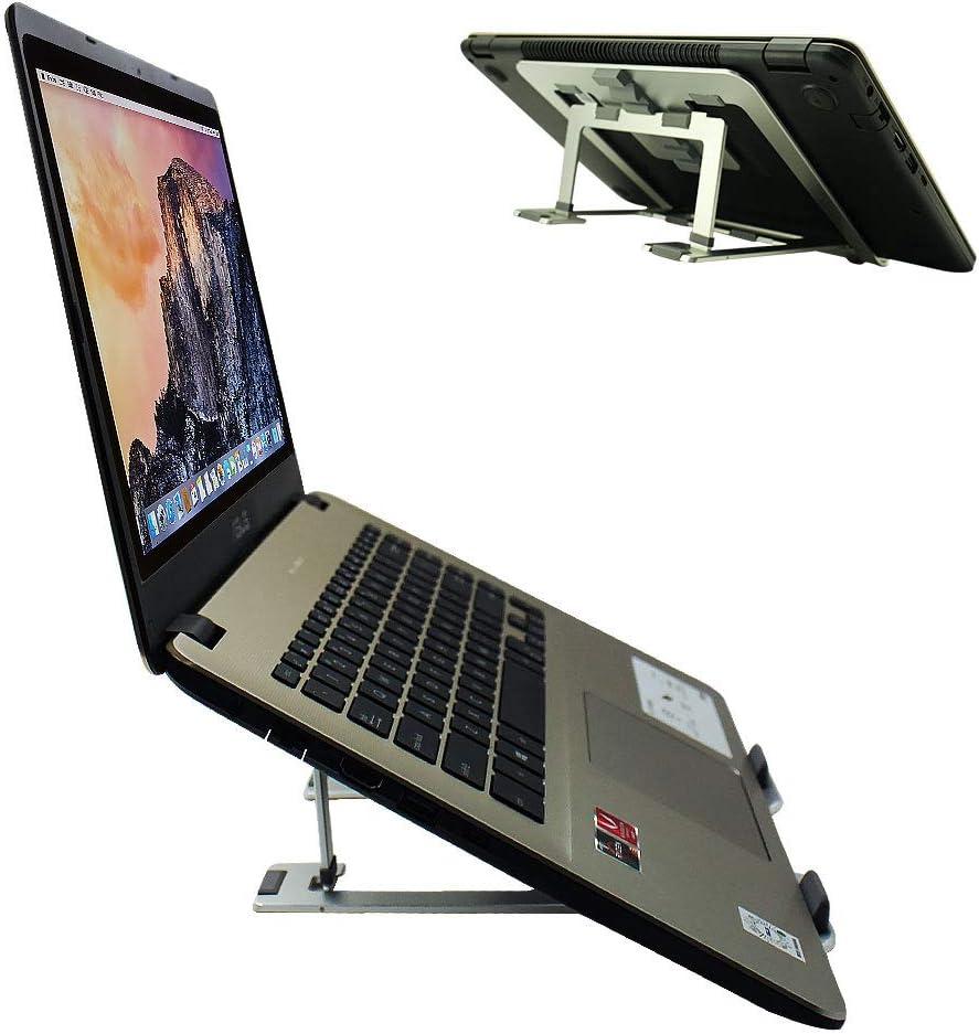 Aluminum Ventilated Portable Ergonomic Desktop Holder Riser for Apple Mac MacBook Surface Laptop Silver Canfon Adjustable Laptop Stand 10-16 Tablet Notebook