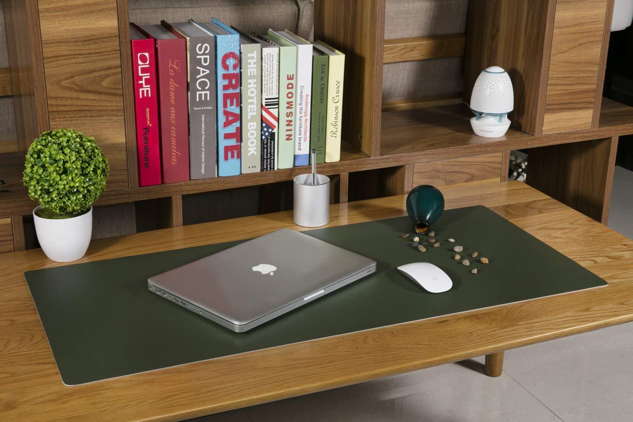 800 400 Multifunzionale Pad per Scrivania Rosa viola 2cm Antiscivolo Tappetino per Mouse da scrivania in PU Pelle,Impermeabile Tappetino da Gioco per Ufficio//Casa