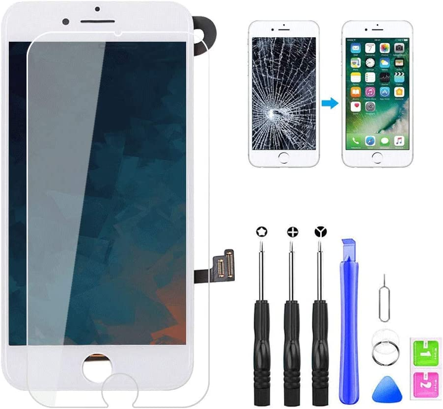 "for iPhone 7 Plus Screen Replacement, LCD Digitizer Display Touch Screen Assembly with Proximity Sensor, Ear Speaker, Front Camera and Free Repair Tools (iPhone 7 Plus Screen White 5.5"")"