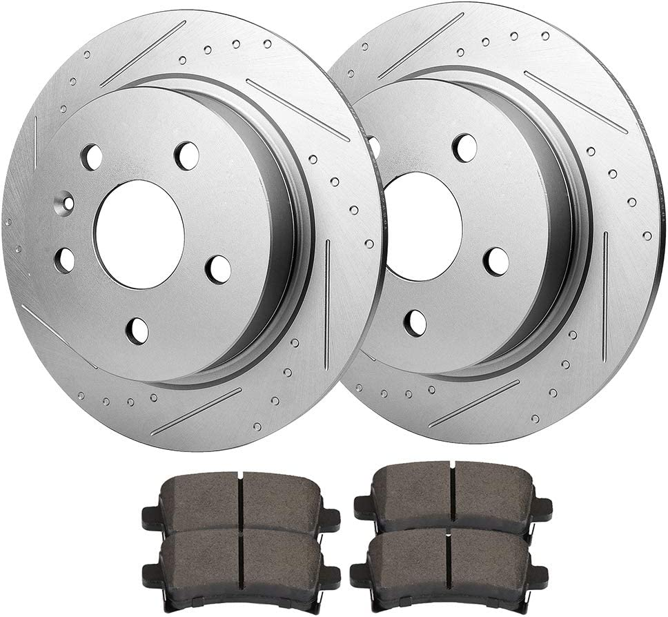 Front And Rear Ceramic Brake Pads For 2016 Chevy Chevrolet Malibu Limited