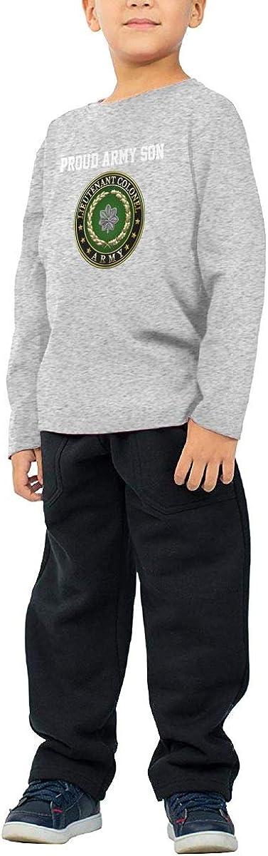 HADYKIDSLOVE US Army Lieutenant Colonel Rank Kids T-Shirt Long Sleeve Boys Girls T-Shirt