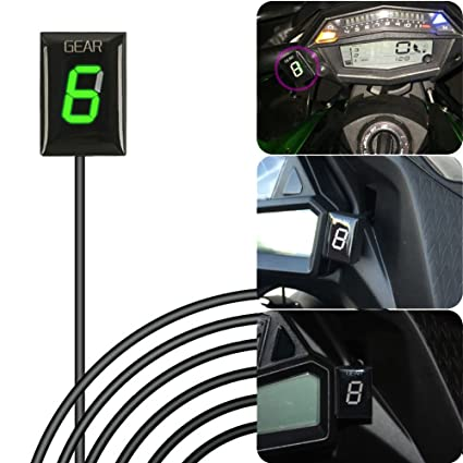 IDEA Motorbike Gear Indicator for Yamaha, Waterproof LED Display Motorcycle  Indicator, No Need to Cut Lines/Read ECU Date Only (Green 1996-2016
