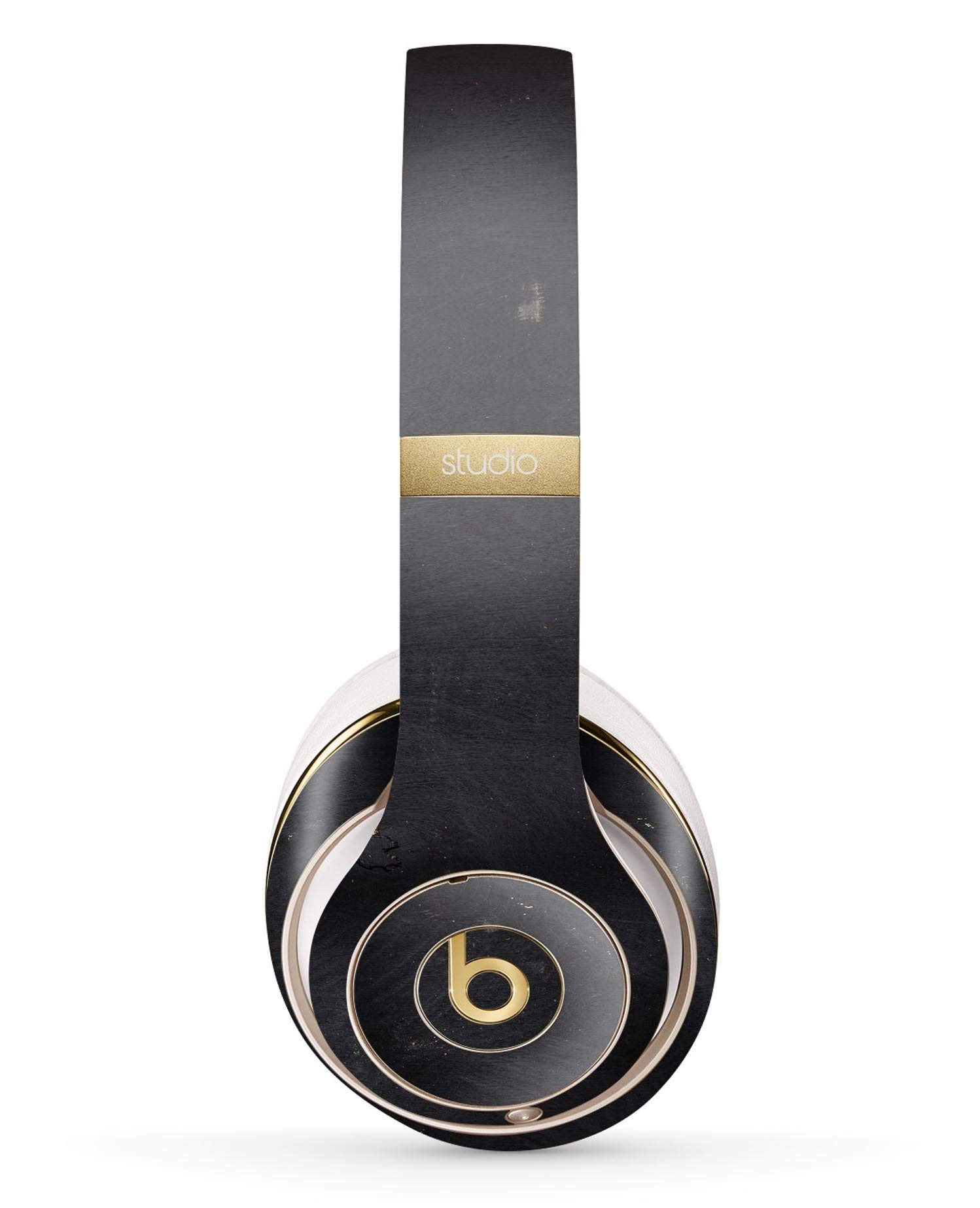 Black and Gold Scratched Woodgrain Design Skinz Full-Body Premium Authentic Skin Kit for The Beats by Dre Studio 2 or 3 Remastered Wireless Headphones Ultra-Thin Protective Decal Wrap