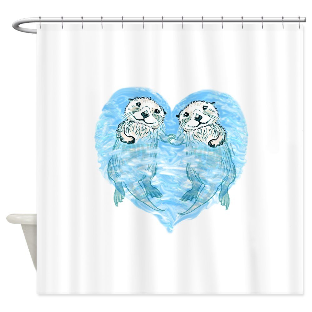 Amazon CafePress Sea Otters Holding Hands Decorative Fabric Shower Curtain 69x70 Home Kitchen