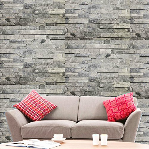 Hyfive Wallpaper 3d Brick Effect Natural Grey Stone Colour 10 X 0 53 M Buy Online In Antigua And Barbuda At Antigua Desertcart Com Productid 66313088