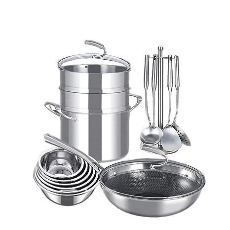 Amazon.com: Juego completo de cocina para el hogar, olla no ...